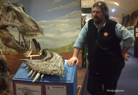 Phil teaching us about the different types of Tyranasaurous (not just the Rex)
