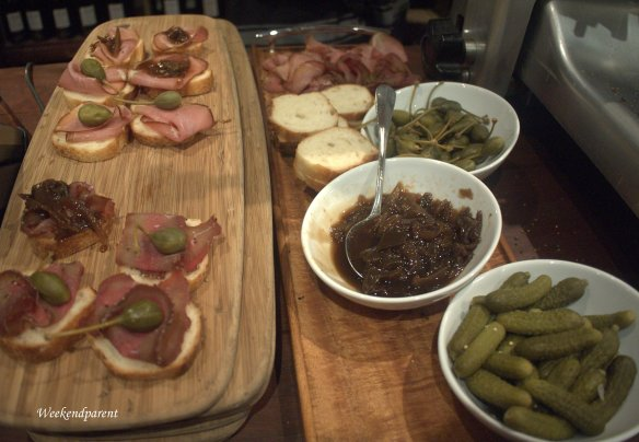 A selection of prosciutto open sandwiches from Poachers Pantry