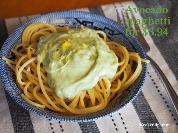 Three-ingredient lemon avocado spaghetti