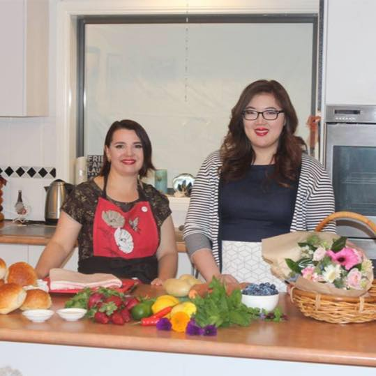 With Eileen Tang on the set of A Taste of Canberra