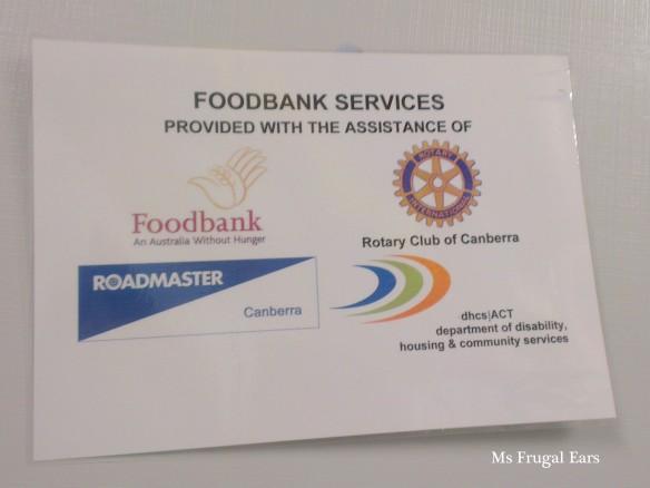 Foodbank and Rotary