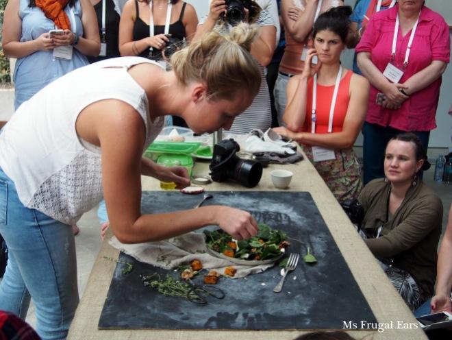 Tess Godkin conducting a food styling workshop