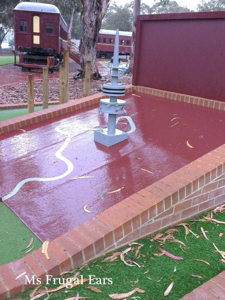 Telstra Tower mini-golf style