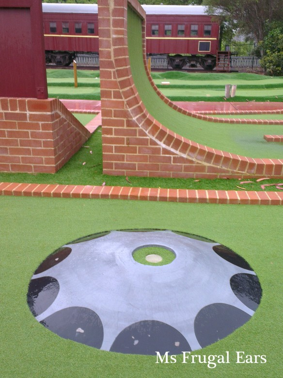 Shine Dome at the mini golf