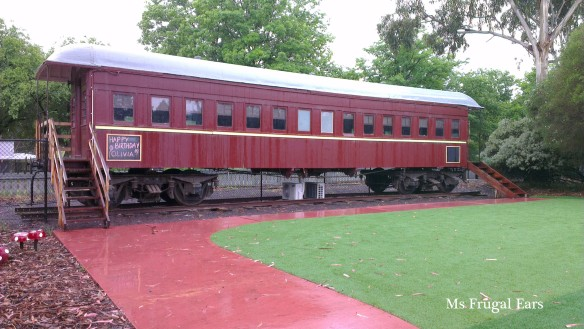 Renovated railway carriage
