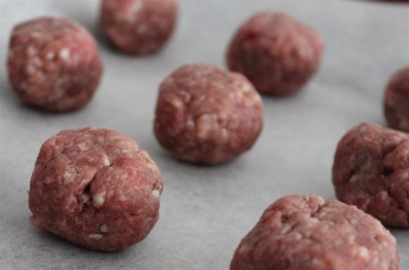Walnut sized meatballs