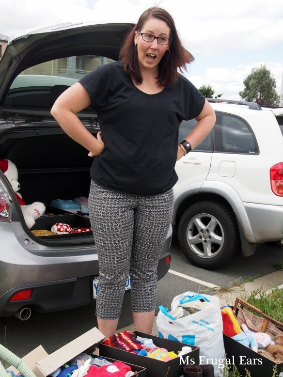 My friend at the car boot sale