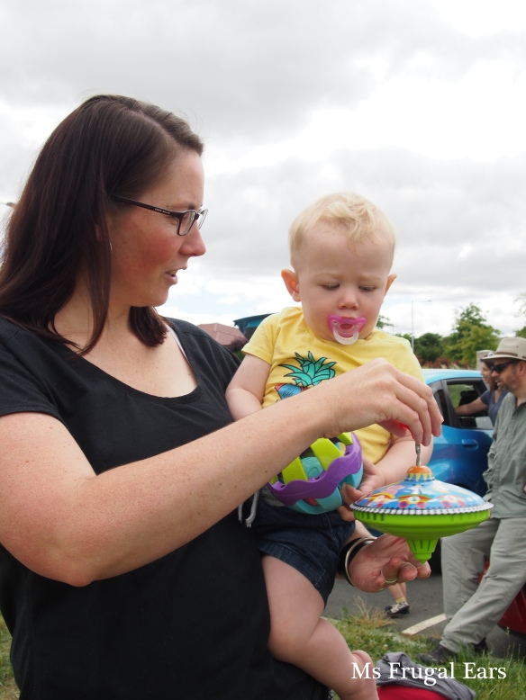Lots of fun for the kids at the car boot swap