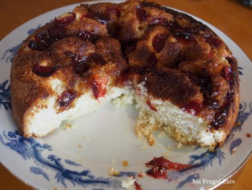 Foraged cherry friendship cake