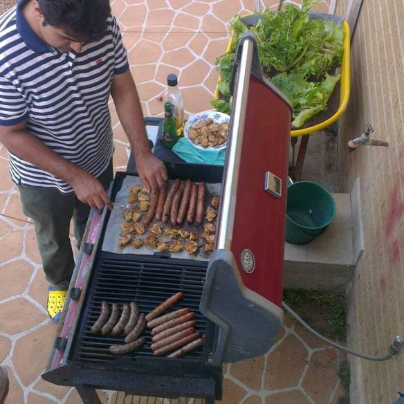 BBQ with my neighbours on Christmas Eve