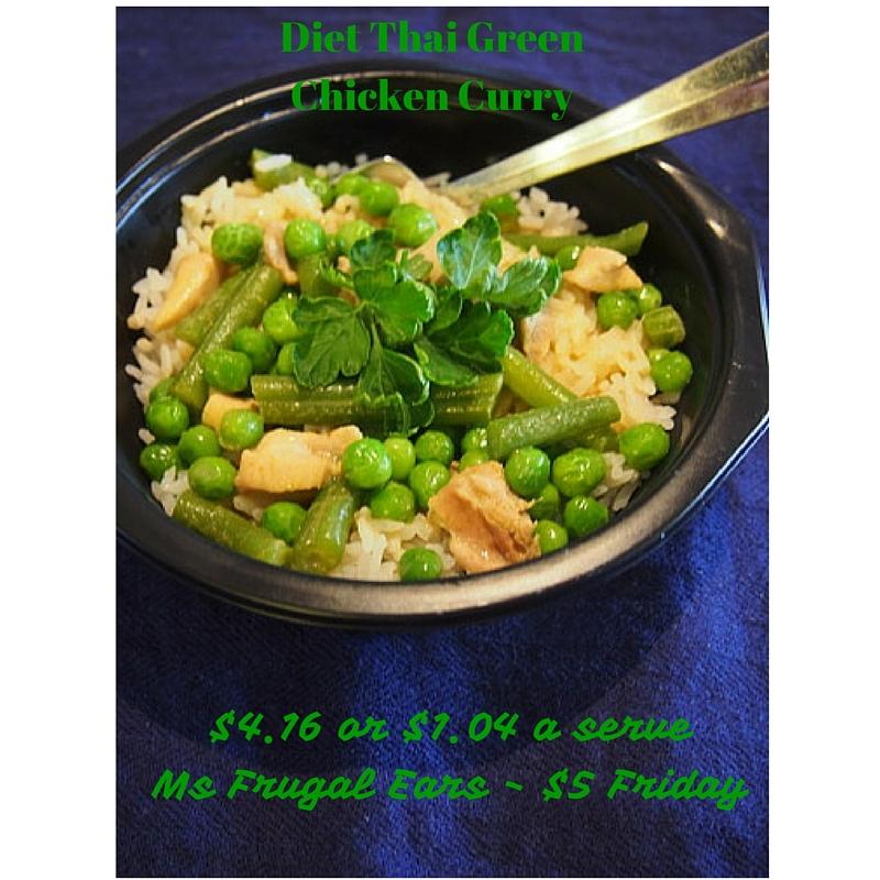 Diet Thai Green Chicken Curry - $4.16 or $1.04 a serve