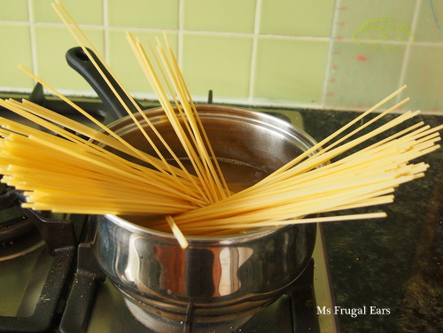 Cooking artisan style durum wheat pasta
