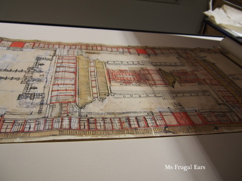 Another close-up of the plans
