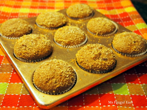 Chocolate Banana Muffins, freshly baked