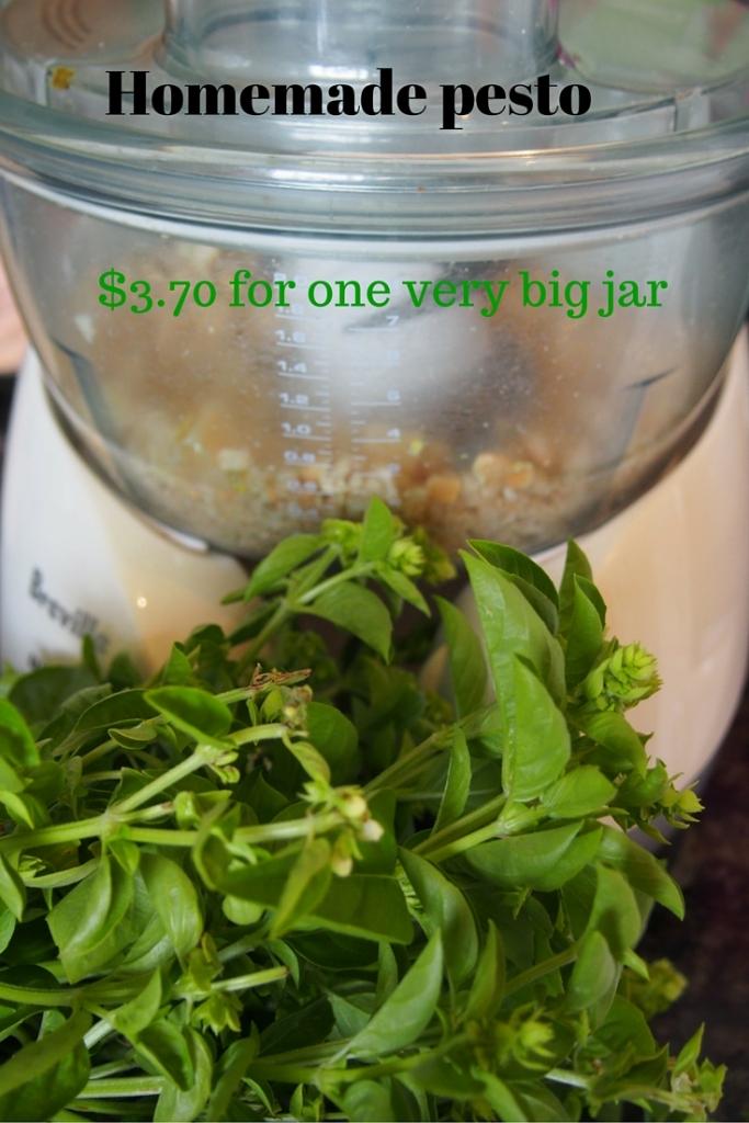 Homemade pesto - only $3.70 for a very big jar