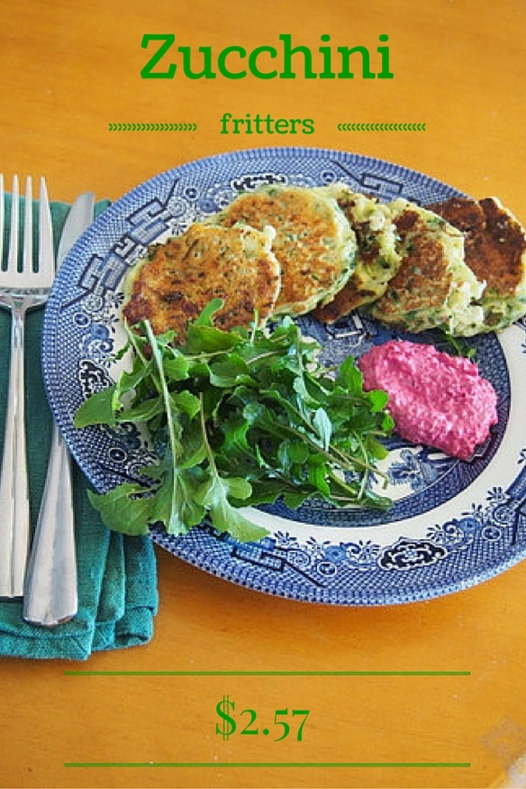 Zucchini fritters - only $2.57