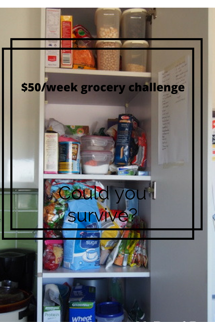 Pinterest style graphic re $50/week challenge