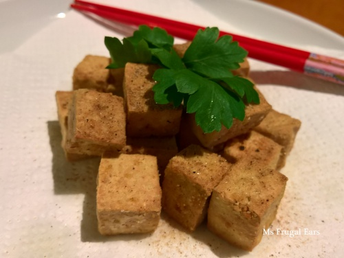 Fried salt and pepper tofu