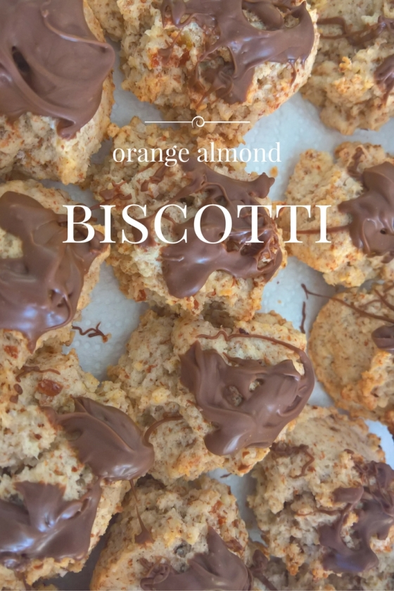 Orange almond biscotti
