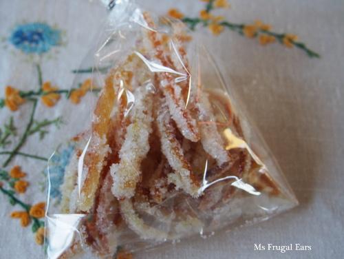 A bag of orange peel