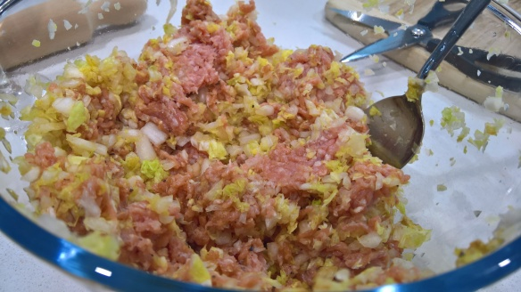 Pork, cabbage and butter mixture