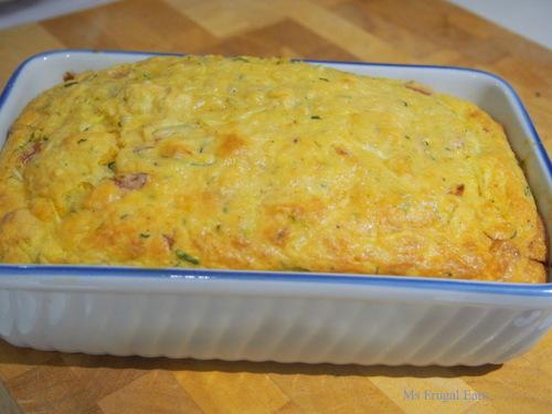 Zucchini slice in a rectangular baking dish