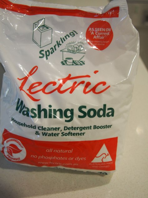 A bag of lectric washing soda