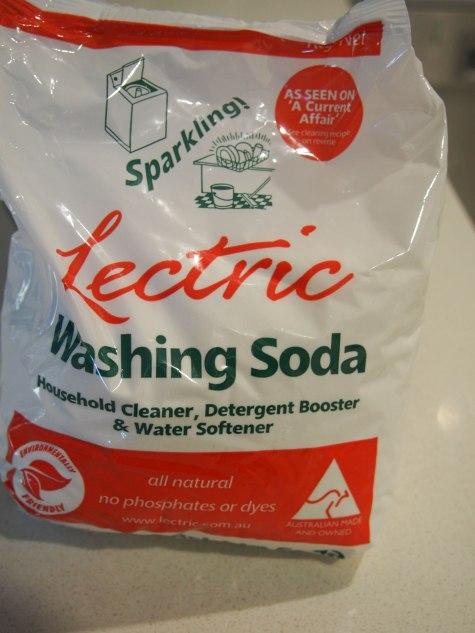 A bag of lectric washing soda