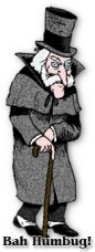Cartoon of Ebenezer Scrooge