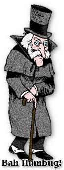Cartoon of Ebenezer Scrooge