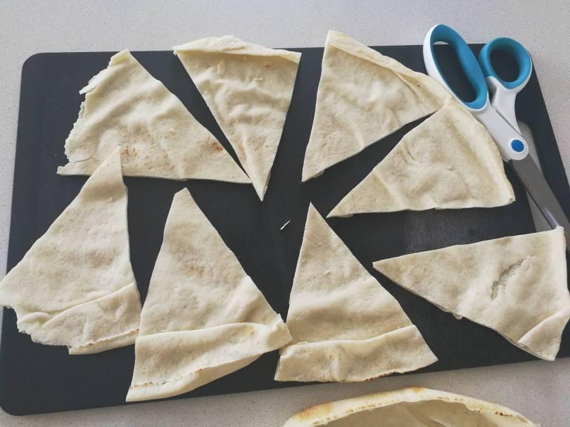 pita bread triangles