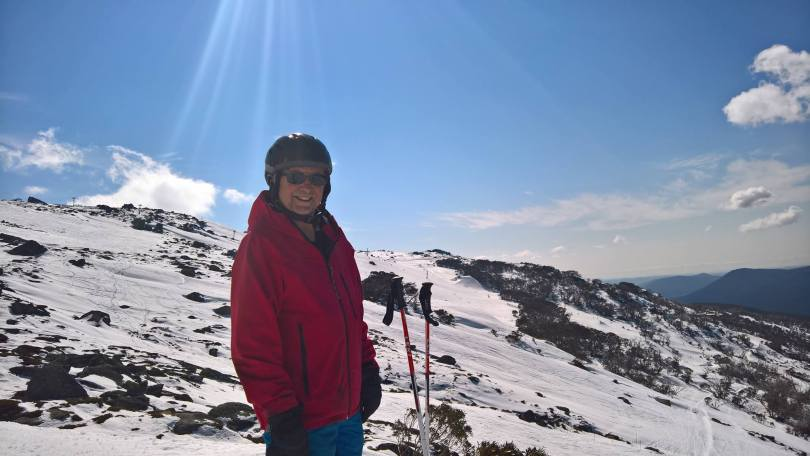 My Dad posing for a photo at Thredbo
