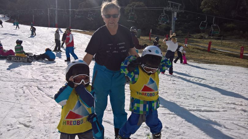 My kids with Grandpa at Thredbo