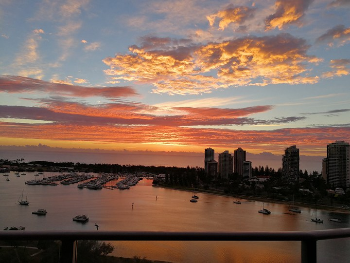Sunrise at the Gold Coast