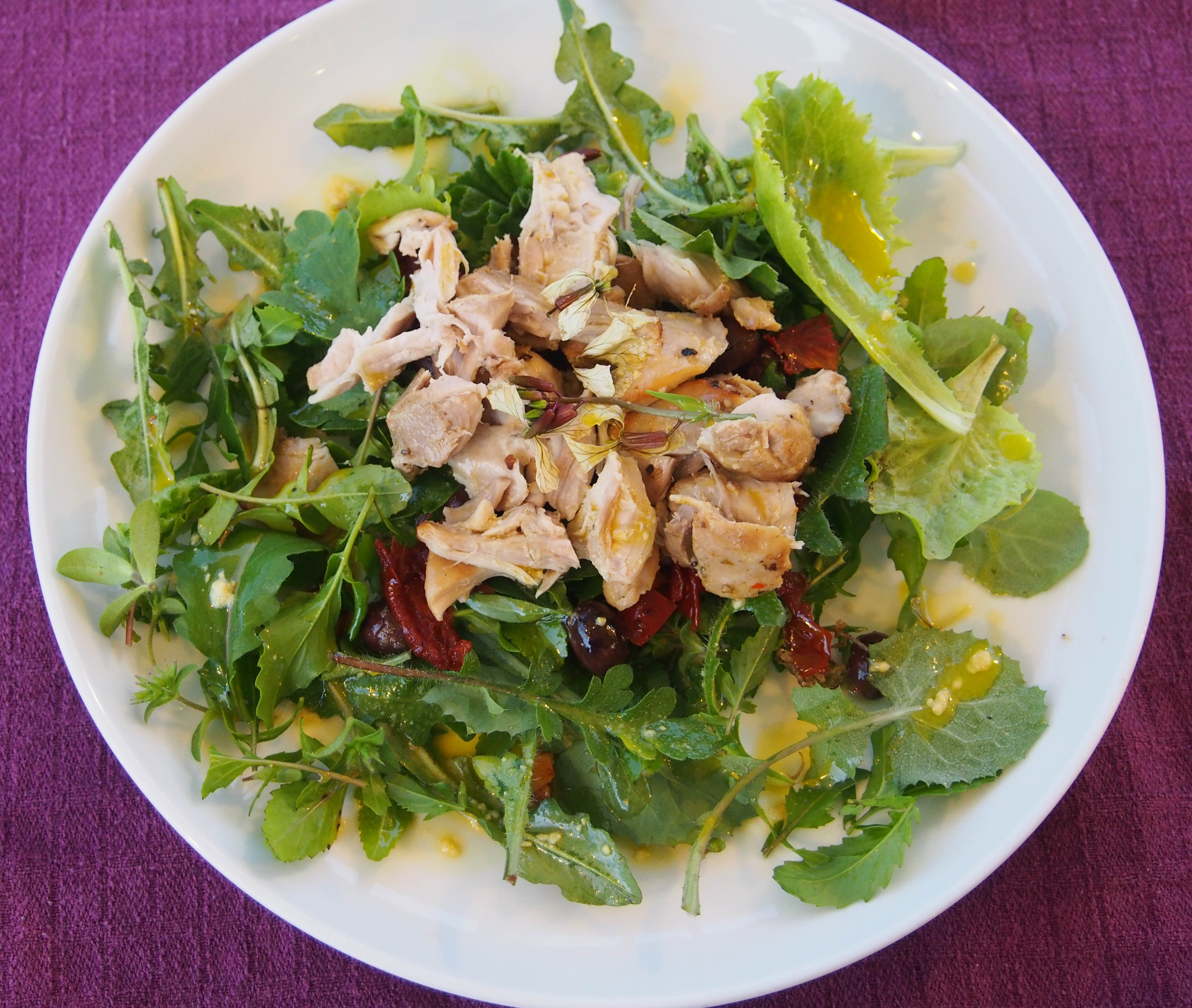 Wild lettuce salad