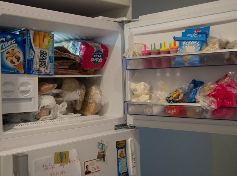 Very full freezer