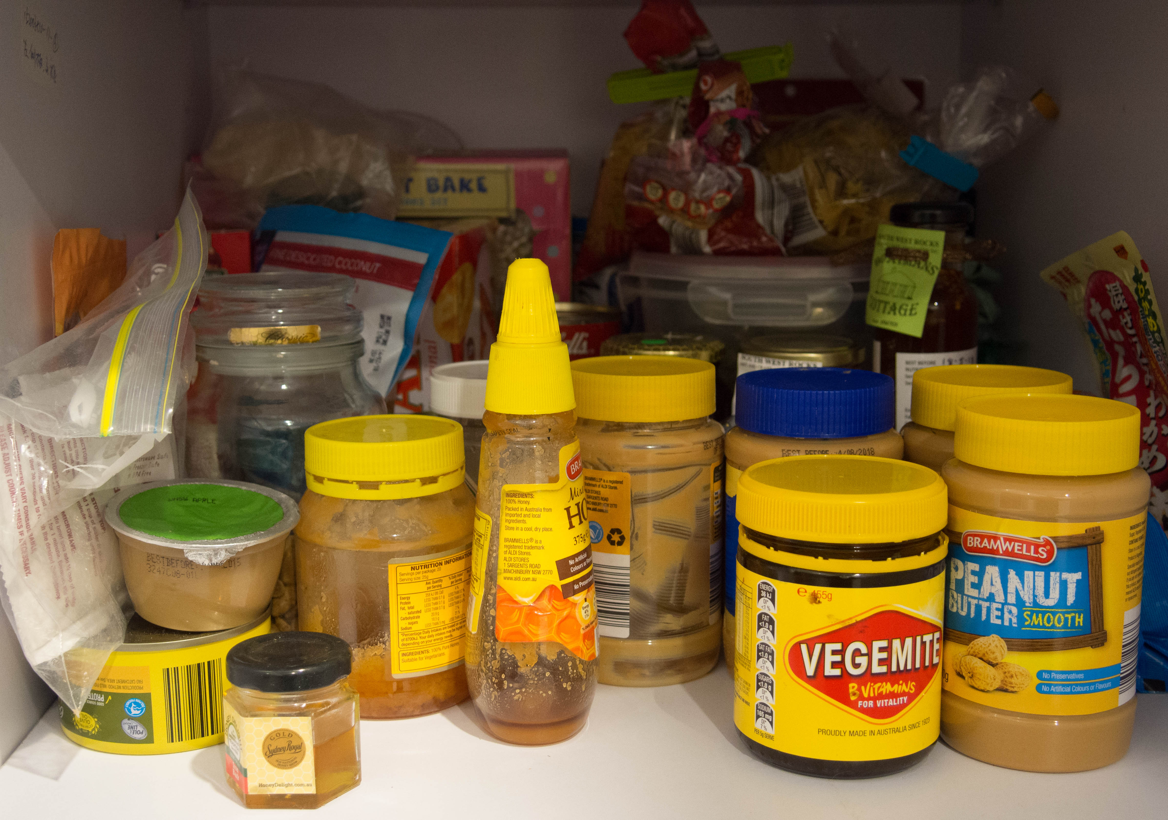 Cupboard of food
